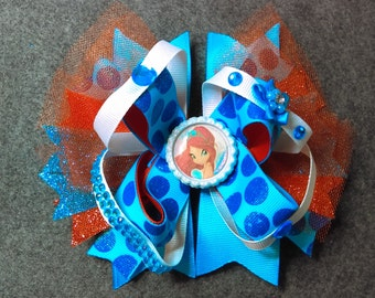 WINX!!!!!! Bloom Hairbow 6 inch