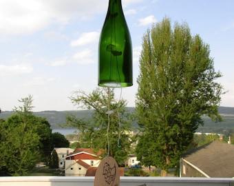 Wine Chime - Wine Bottle & Lake Glass Wind Chime