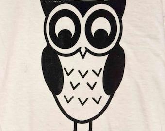 Handmade Screen Print Owl T-Shirt