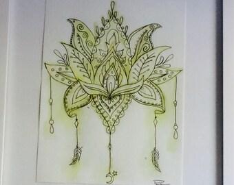 Third Chakra Lotus Charm