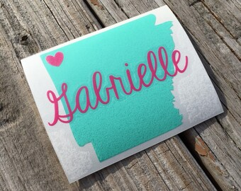 Personalized State Decal | Home Vinyl Decal | Personalized Vinyl Decal | Yeti Cup Decal | Car Decal | Personalized Sticker | Home Sticker