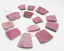 One Of A Kind Natural Pink Cobalto Calcite Druzy Free-Form Trapezoid Shaped Necklace