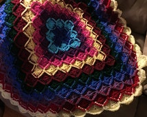 Colorful Crochet Bavarian Baby blanket