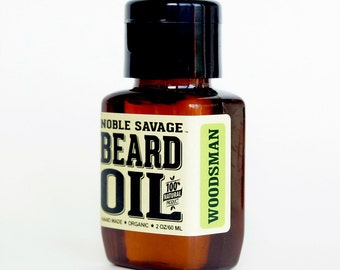 Beard Oil 2oz / 60ml All Natural.Noble Savage. Woodsman Fragrance