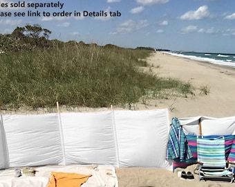 Windscreens - 4' - Wind blocker - Extend beach Season - Privacy - Hot tub, Camping, RV, Backyard - Made to Order - Poles Sold Separately