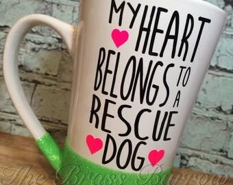 16oz Rescue Dog Coffee Mug