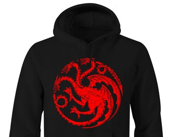 Game of Thrones Hoodie, Game of Thrones Targaryen Hoodies, Game of Thrones Targaryen Hoodies, Game of Thrones Targaryen logo