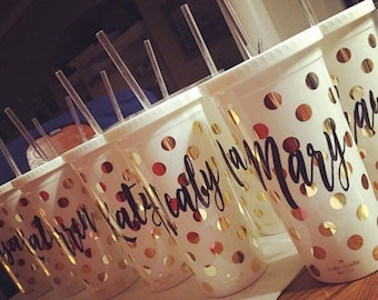 Kate Spade personalized coffee cup/tumbler
