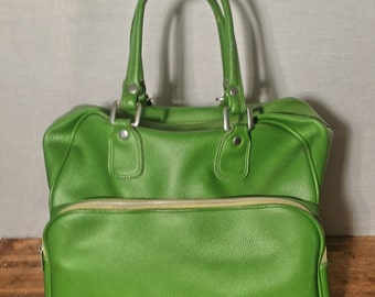 1960s 1970s Bag Luggage Carryall Carry On Overnight Case Gym Bag Diaper Bag