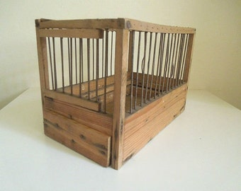 Vintage wood bird cage