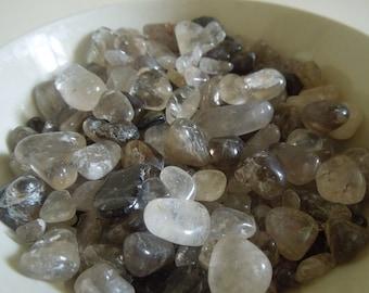 Quartz smokey pebbles