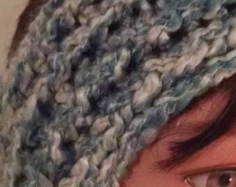 Verified, blue ear warmers