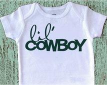 Baby bodysuit•custom•lil cowboy•one piece•GERBER ONESIE® Brand•Carter's®Brand•baby shirt•toddler shirt•snapsuit•layette•romper•creeper