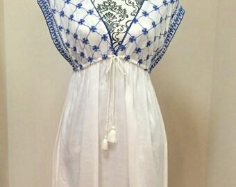 White summertime dress