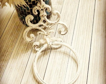 Towel Holder, Towel Ring, French Country, Towel Hanger, Bar Towel Holder, Hand Towel Holder, Bathroom Towel Holder, Kitchen Towel Holder