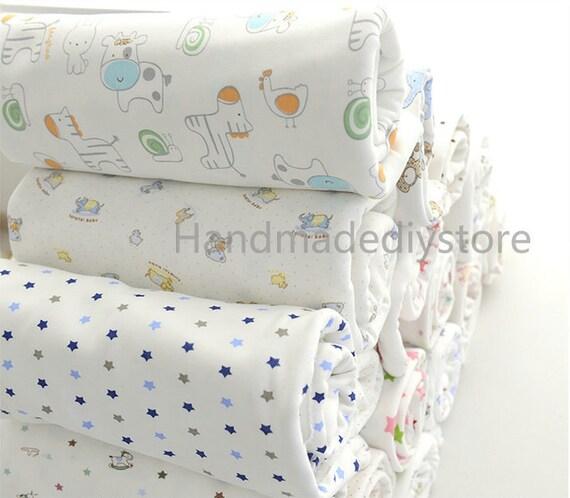 Items similar to nursery fabric soft knitting 100 cotton for Nursery cotton fabric