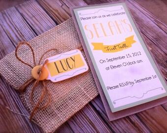 Burlap Envelope Invitation