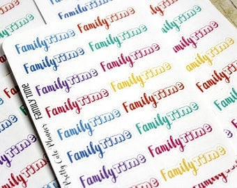 Planner Stickers - Family Time Stickers - Reminder Stickers - Functional Stickers - Rainbow Stickers - Fits Erin Condren - Happy Planner