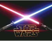 Star Wars Sables Laser. Patrón de Punto de Cruz - Cross Stitch Pattern Star Wars Lightsaber