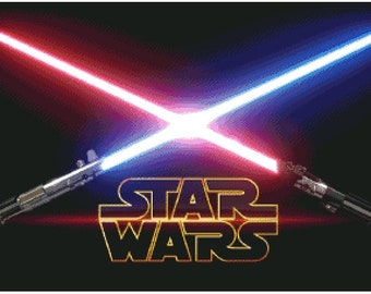Cross Stitch Pattern: Star Wars Lighsaber, in PDF