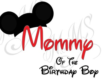 Mommy Birthday Girl Family Shirt DIY Mickey Mouse Head Disney Family Download Iron On Craft Digital Disney Cruise Line Magnet Shirts