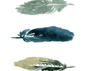 Wall Art {digital file} - Feathers