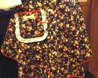 Vintage style womens half apron
