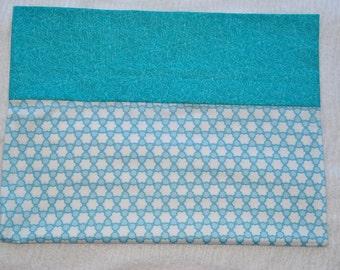 Blue Lattice pillow case