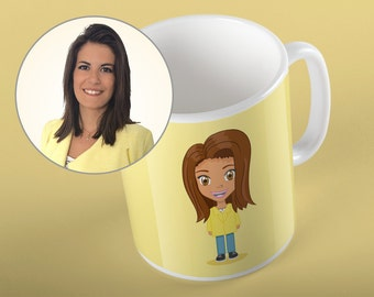 Cup custom from photo - a person