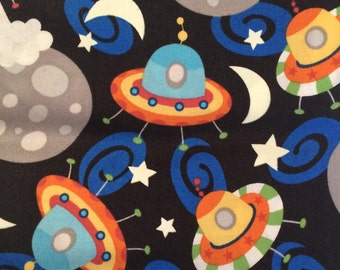 Outer space fabric etsy for Outer space fabric uk