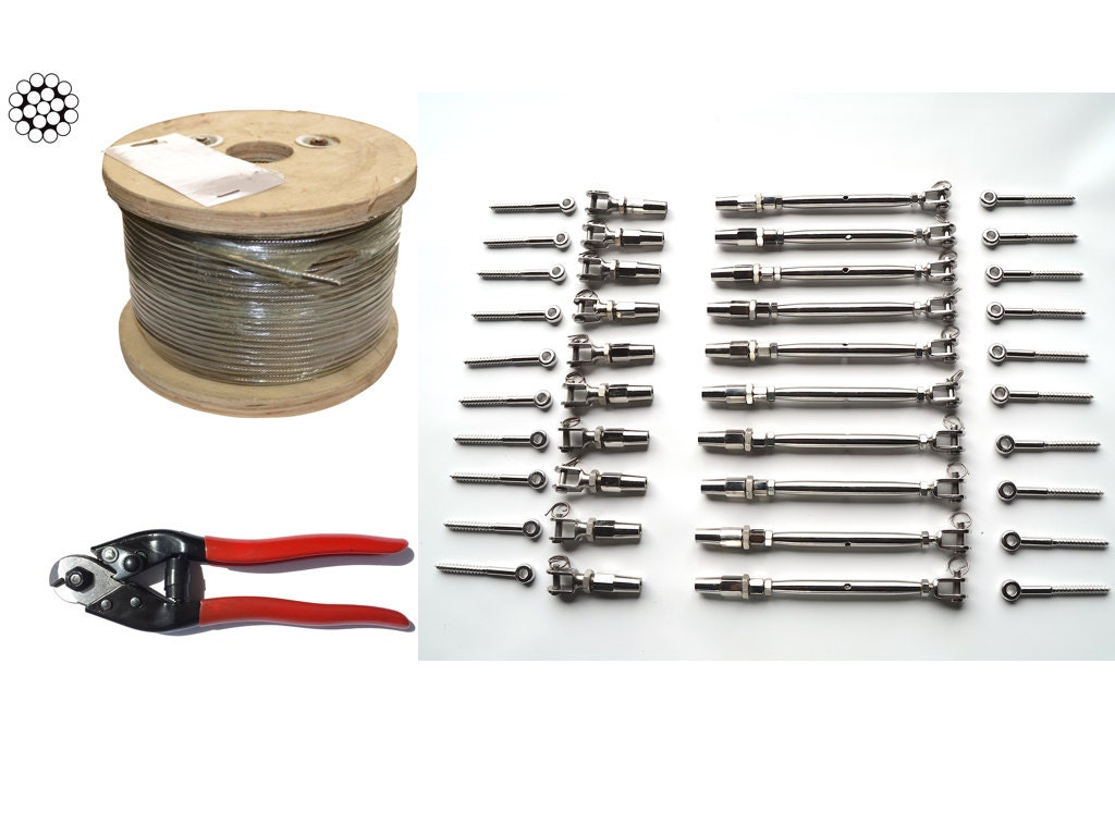 Cable railing stainless steel kit by
