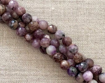 8mm Purple Faceted Charoite