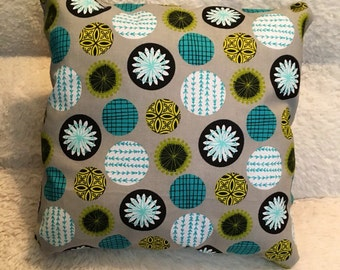 Circles Throw Pillow Hand Stitched