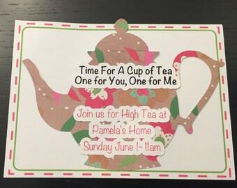Custom Tea Party Invitation