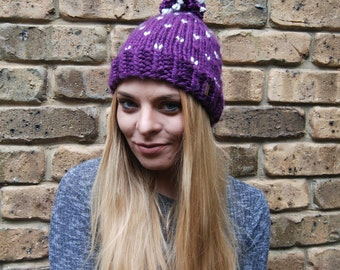Chunky Beanie - 100% Hand made - Hat Knit Hat