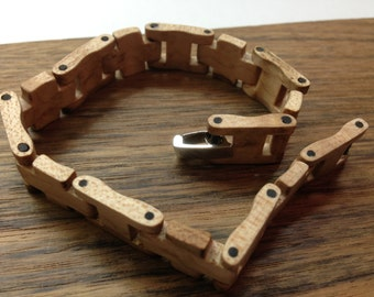 Birdseye maple wood bracelet