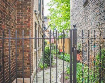 Peaceful Alley/Cityscape Chicago/ Stock Photo/ Fine Art Photography/Home Decor/City Homes/Classic/Vintage/City Life/Walkway/Stone Path