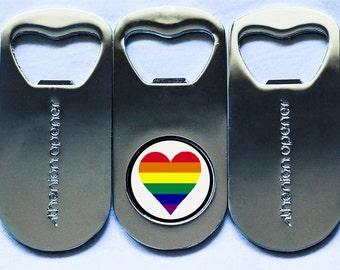 LGBTQ Pride Bottle Opener