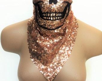 Skull Mask, Halloween Costume, Halloween Gift, Halloween Mask, Skull Half Mask, Music Festival Clothing, Dust Mask, Festival Outfit