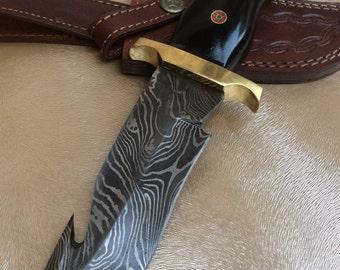 Alkaswa Handmade Damascuscus Knife With Sheath