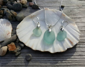 Necklace and earrings Light Teal - Seafoam