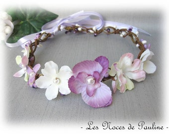 Wreath wedding purple and white Orchid