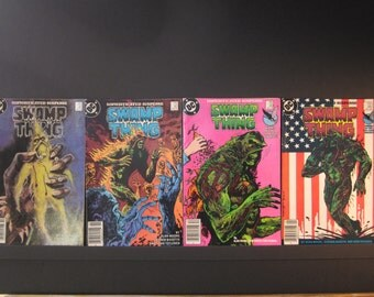 Swamp Thing Sophisticated Suspense ,4 DC comics, #41 , #42, #43, #44, 1985-86, F+ to VF