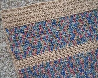 Crochet Blanket/Afghan - Manly colors