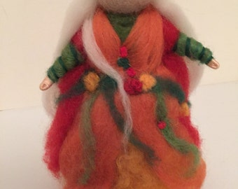 Autumn Waldorf Style Needle Felted Doll