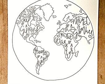 Inspirational World Map