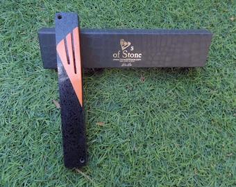 black and orange mezuzah case handmade mezuzah cover handmade
