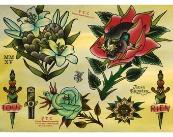 Tattoo Flash PANTHER Julien BRUNIER