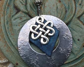 Celtic jewelry - Celtic pendant- Irish- Celtic knot charm- silver jewelry