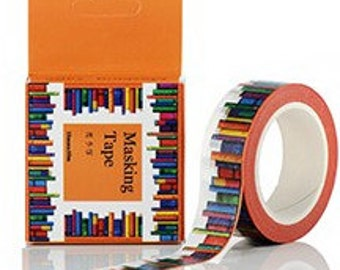 Book shelf library  books planner washi tape